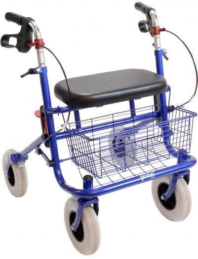 Premis Provo Klein Volwassenen Rollator 43cm blauw
