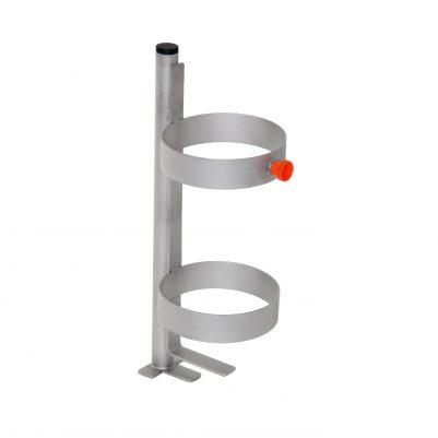 Zuurstoffleshouder in Stokhouder rollator
